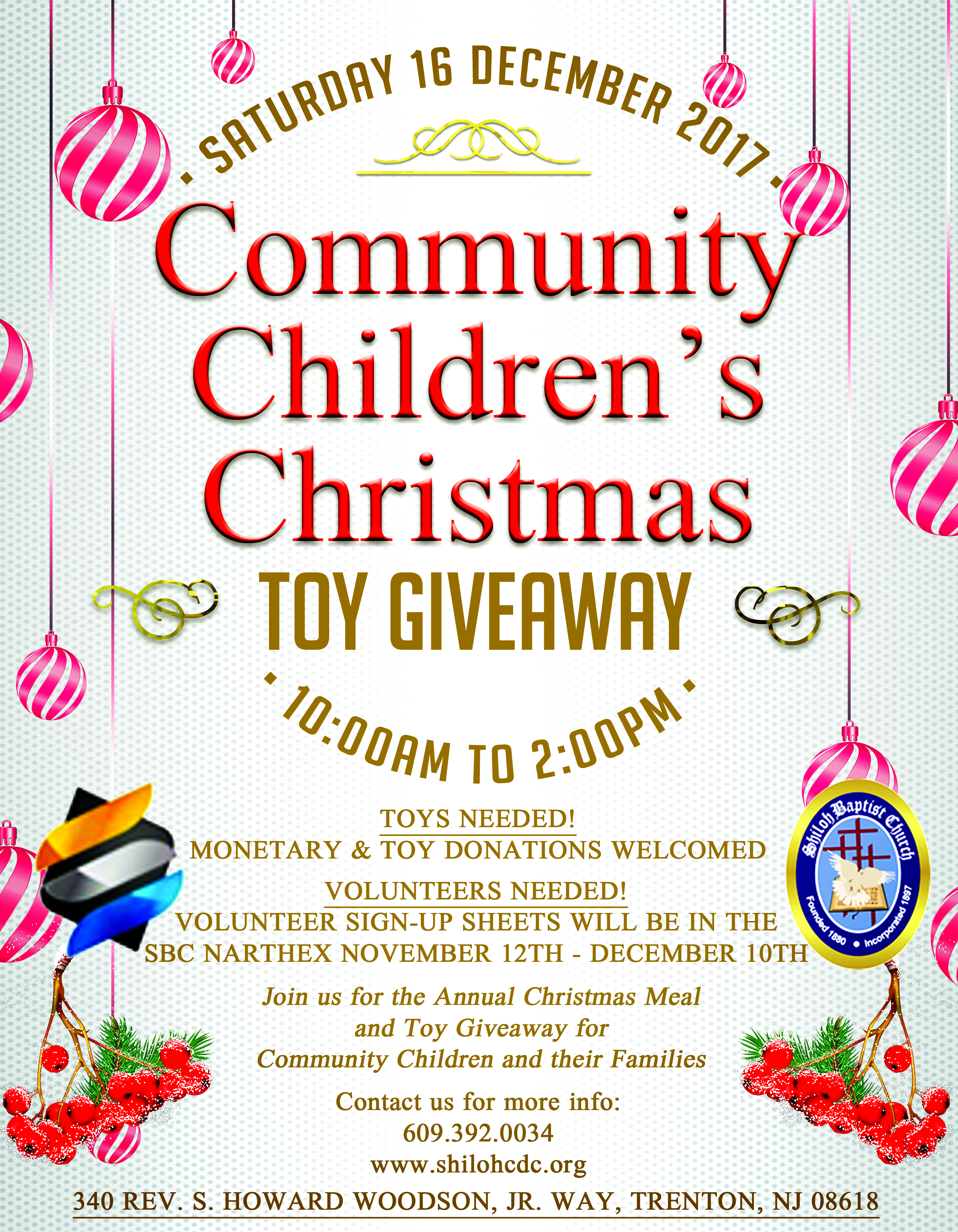 Christmas toys giveaway